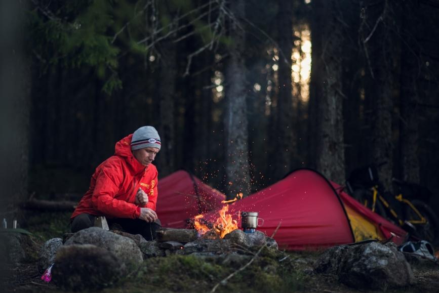 Sverre bikepacking Nordmarka