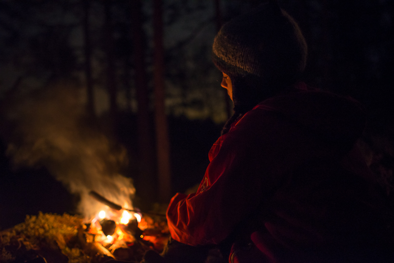 Winter solstice campfire