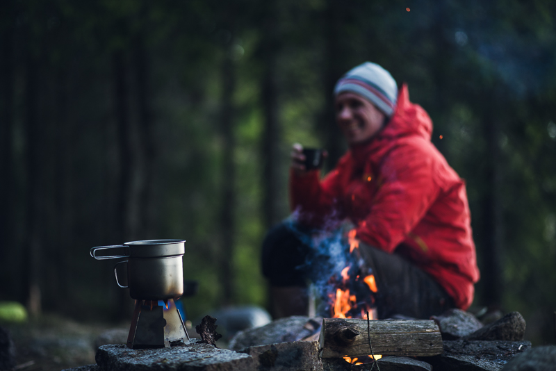 Sverre enjoys his coffee